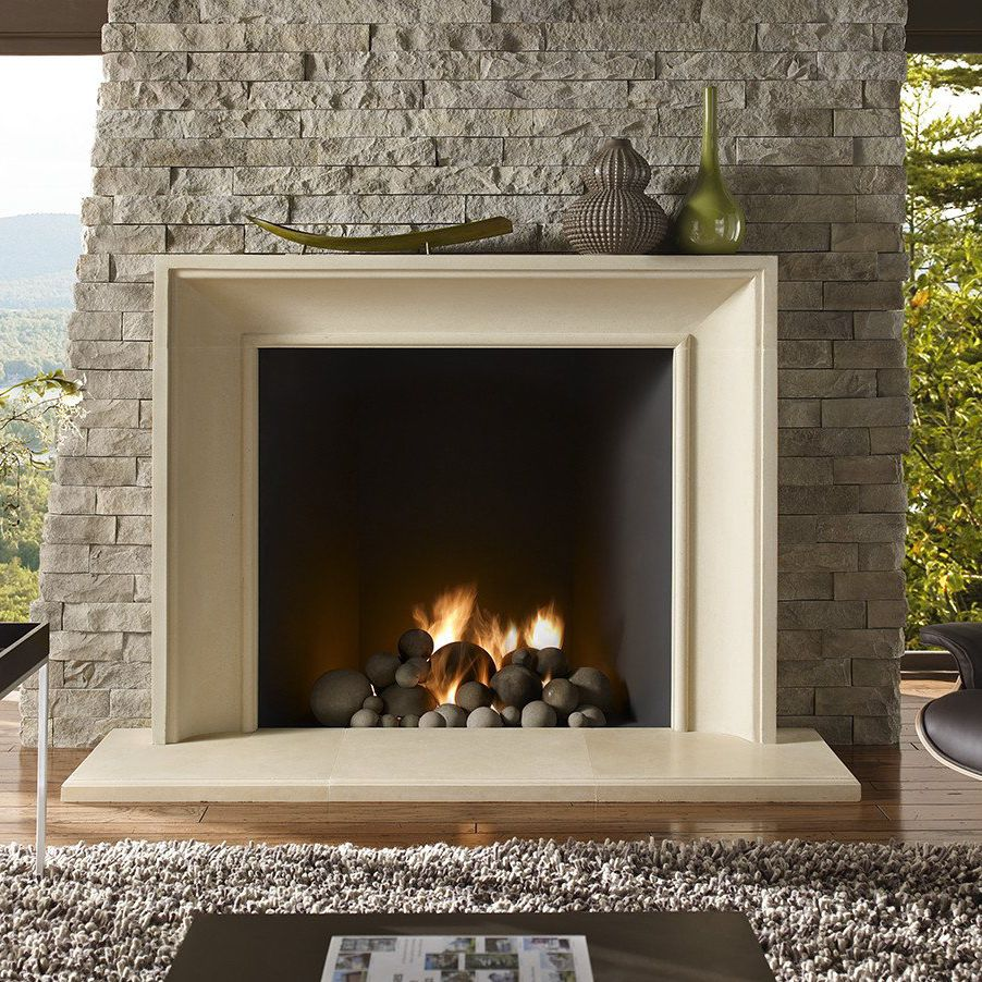 Contemporary Fireplace Surround Stone The Soho Boutique
