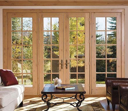 Swing French Door Aluminum Wooden Double Glazed Architect Series Hinged