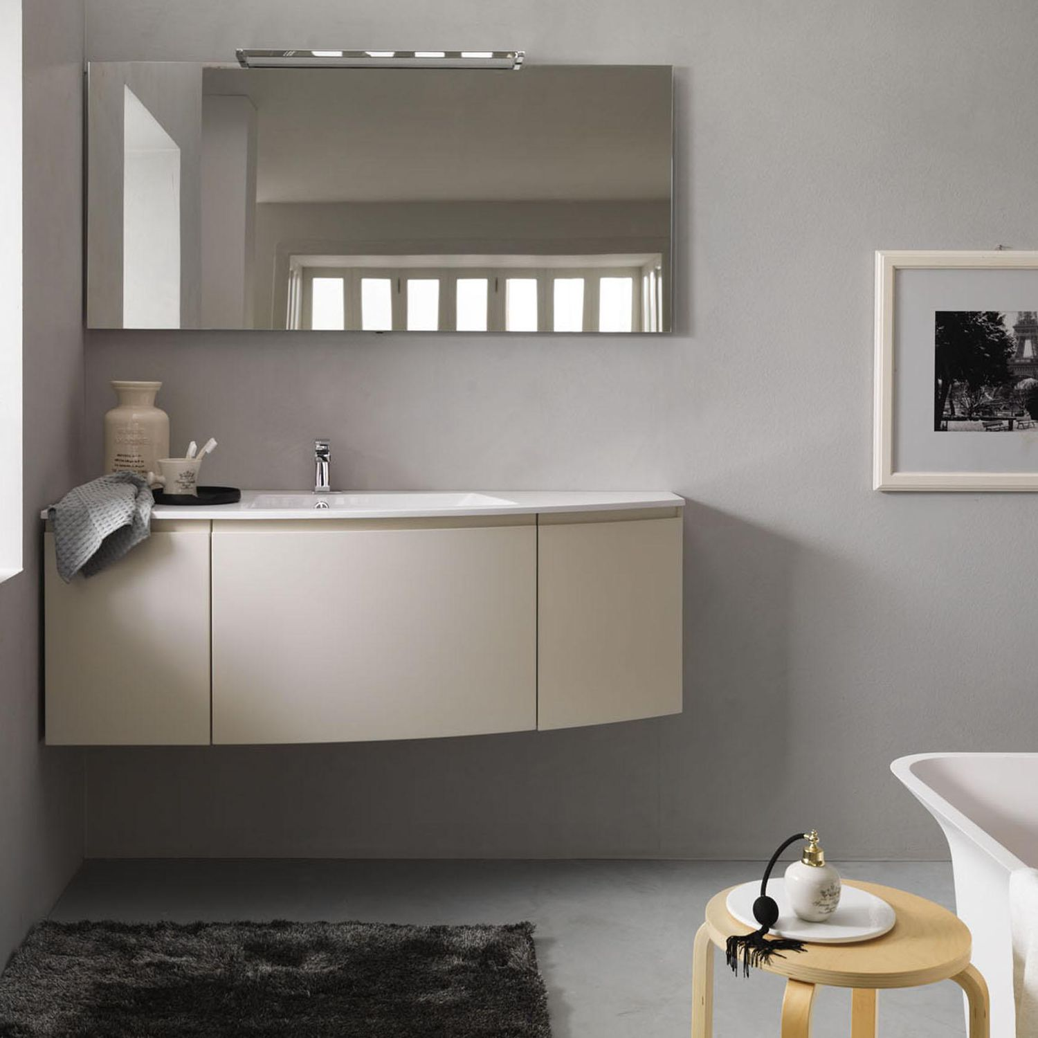 Arco Design Srl.Wall Hung Washbasin Cabinet Wooden Contemporary With