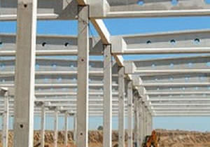 Prestressed concrete beam / I - consolis