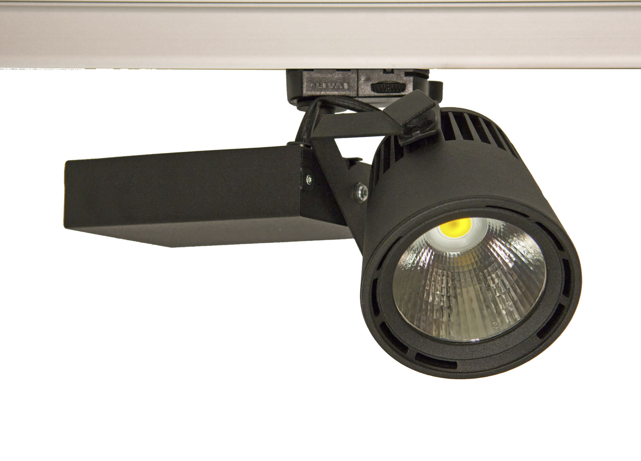 Led Track Light Round Metal Commercial