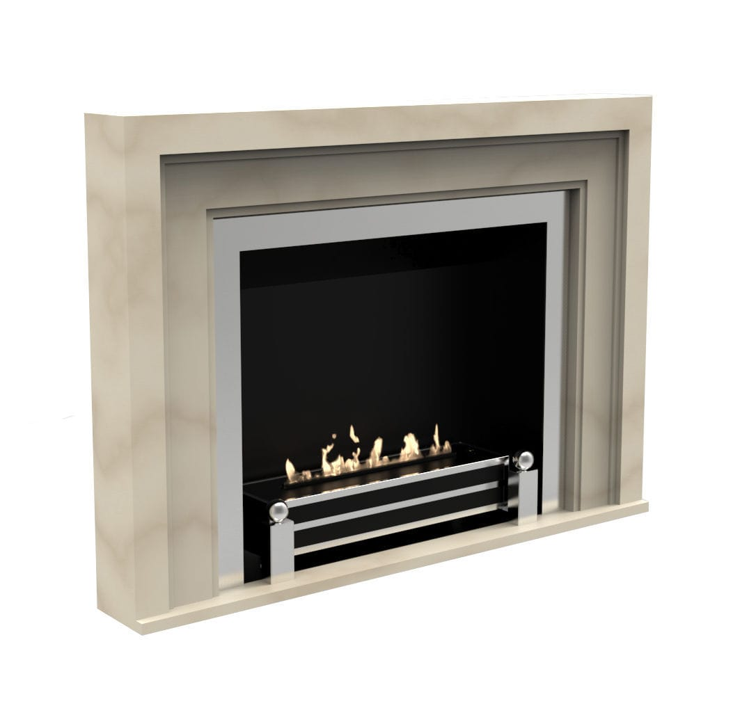 Bioethanol Fireplace Contemporary Open Hearth Built In