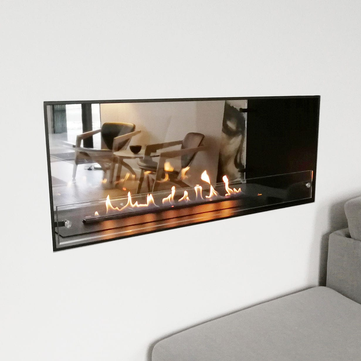 Bioethanol Fireplace Montreal Open Decoflame Contemporary Open Hearth Double Sided
