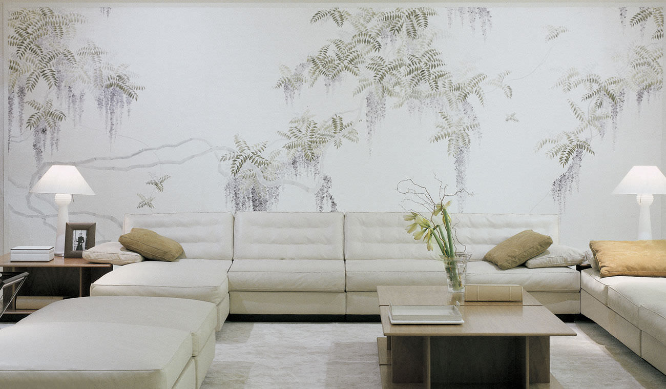 Traditional Wallpaper Nature Pattern Fl Fabric Look