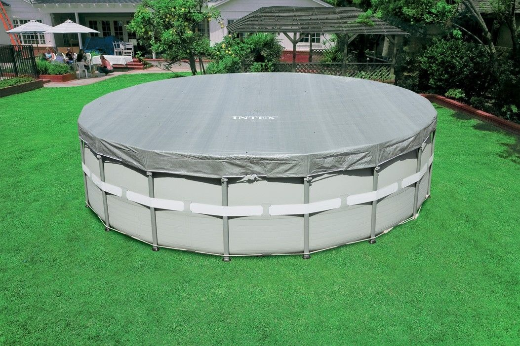 Security swimming pool cover / for above-ground pools - 16FT ...
