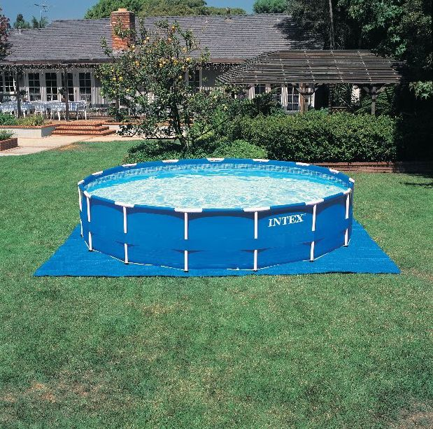 Tubular swimming pool / above-ground / polyester / outdoor ...