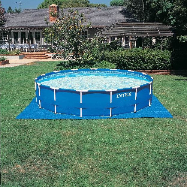 Above-ground swimming pool / polyester / tubular / outdoor ...