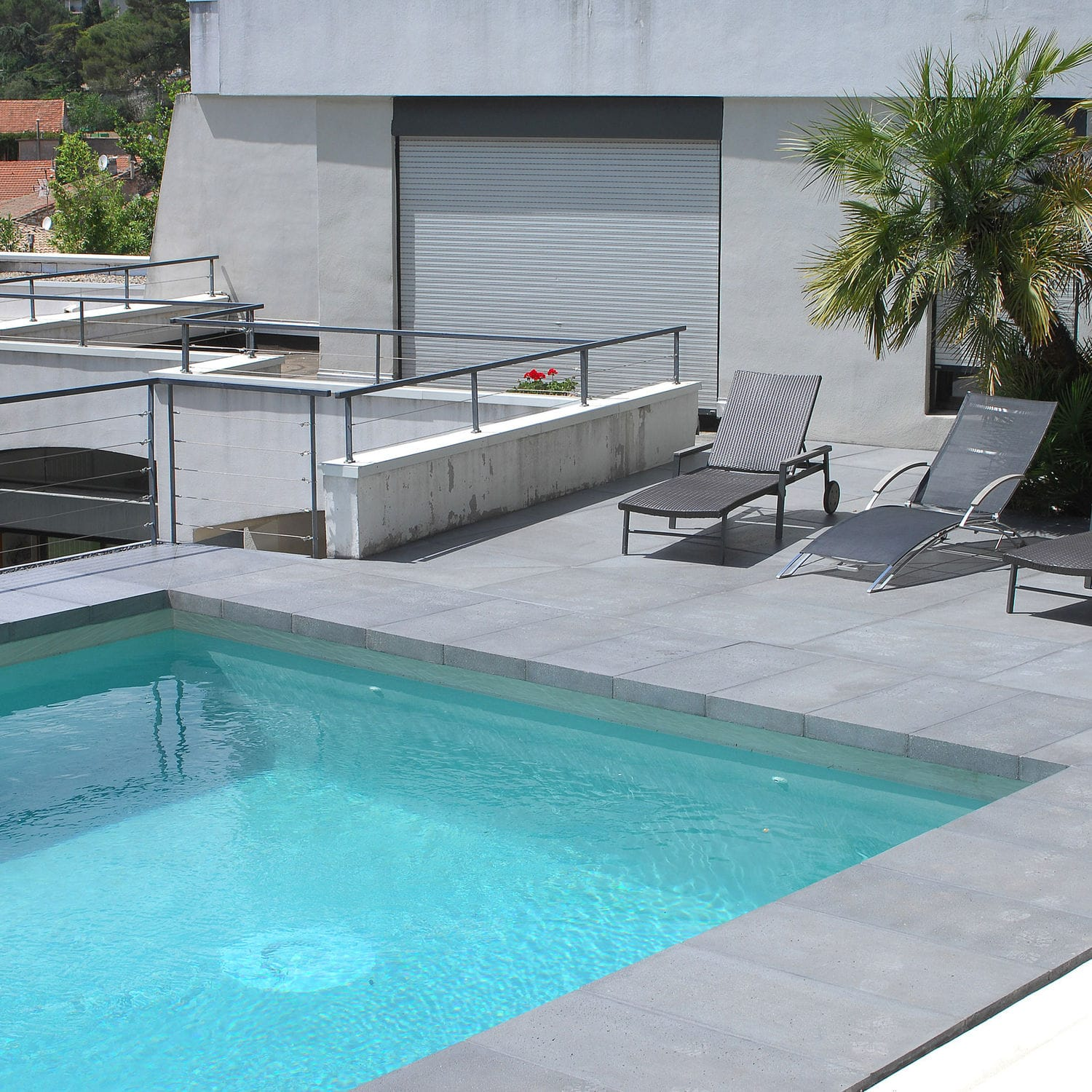 Concrete swimming pool coping - RENO - ROUVIERE
