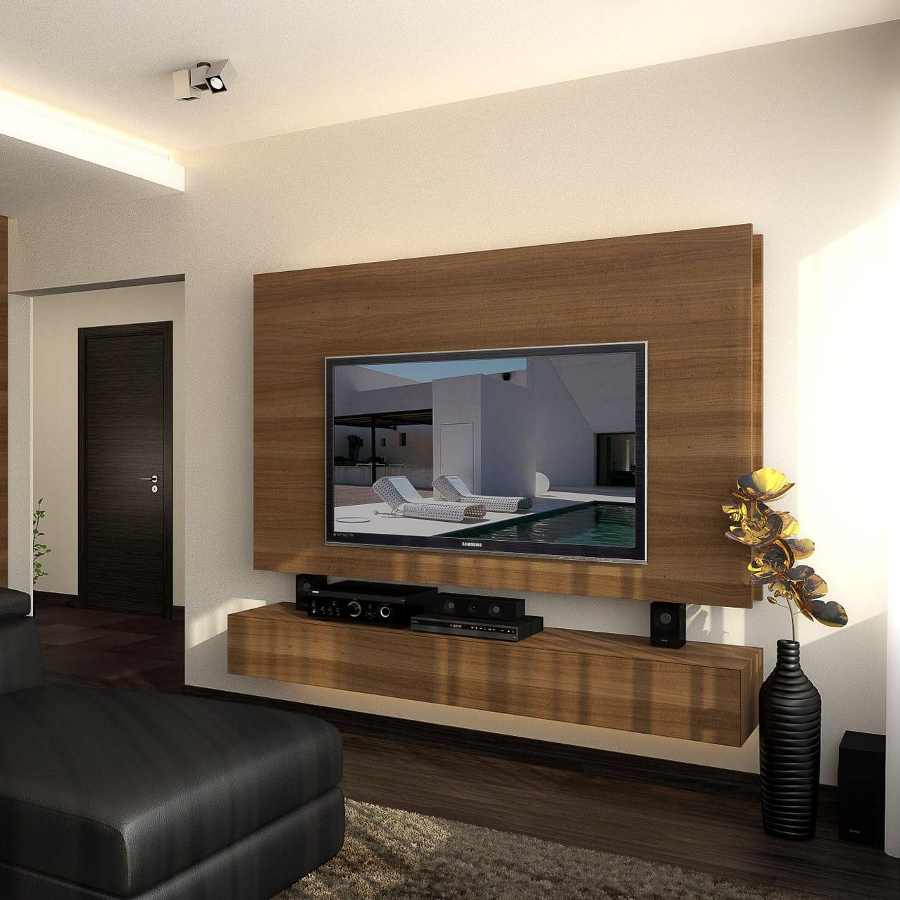 Contemporary Tv Wall Unit In4 Design Ideas Ltd Wooden