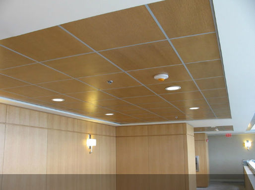 Wooden Suspended Ceiling Tile With Loudspeaker