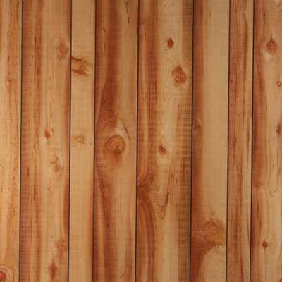 Wooden Wallcovering Laminate Residential Smooth New Cut Cedar