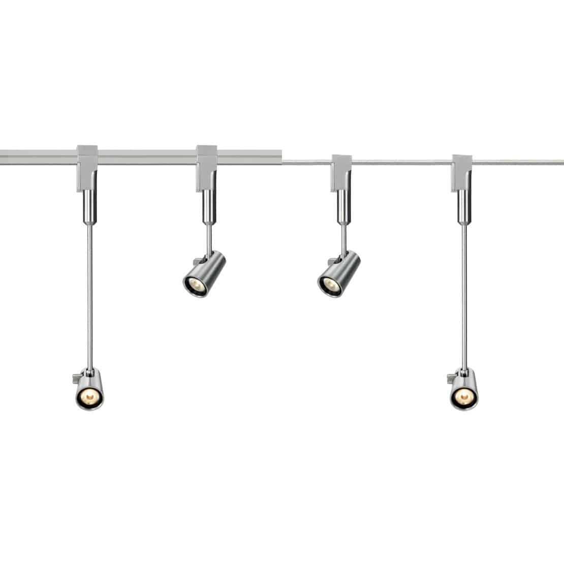 Led Track Light Round Metal Museum Play Plug