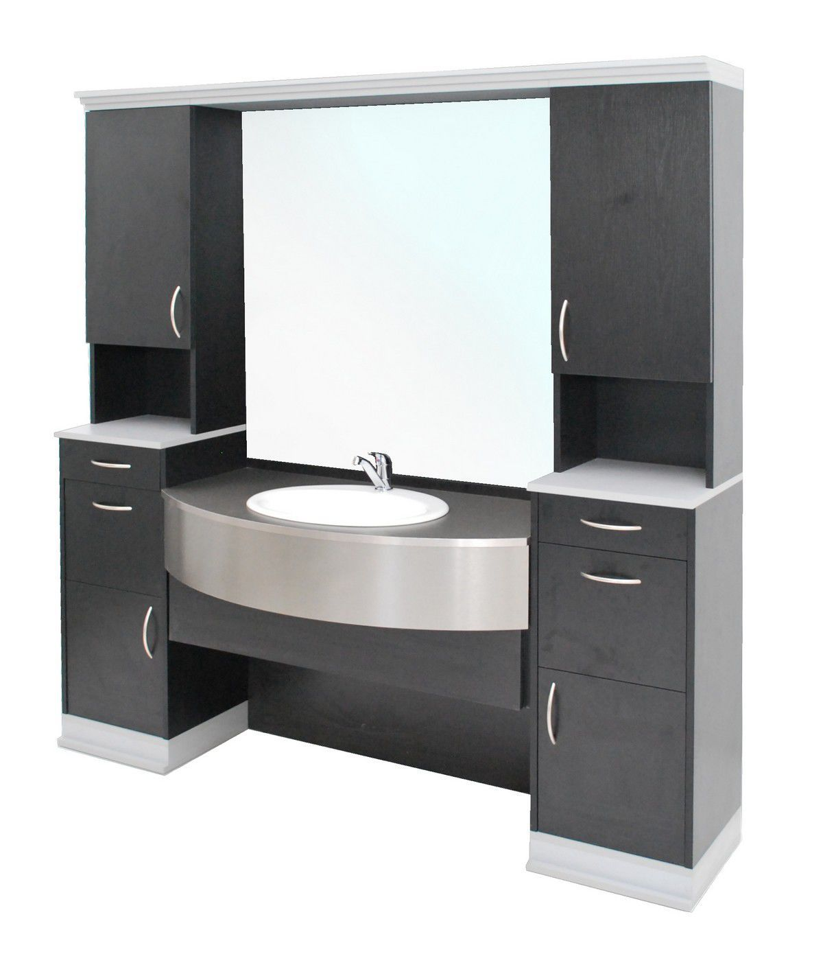 Free Standing Washbasin Cabinet Wooden Contemporary With  # Muebles Boutique Srl