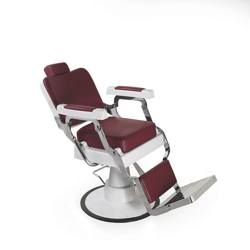 Marvelous Synthetic Leather Barber Chair With Footrest Central Gmtry Best Dining Table And Chair Ideas Images Gmtryco