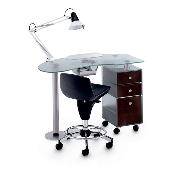 Manicure Table With Vacuum Cleaner Glass Vented Artecno Srl