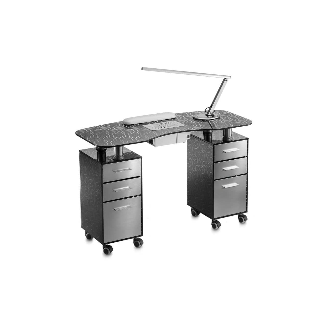 Manicure Table With Vacuum Cleaner Glass Prestige Double Vented
