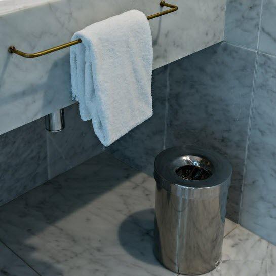 Bathroom Trash Can Tap Apir Srl, Stainless Steel Bathroom Garbage Can