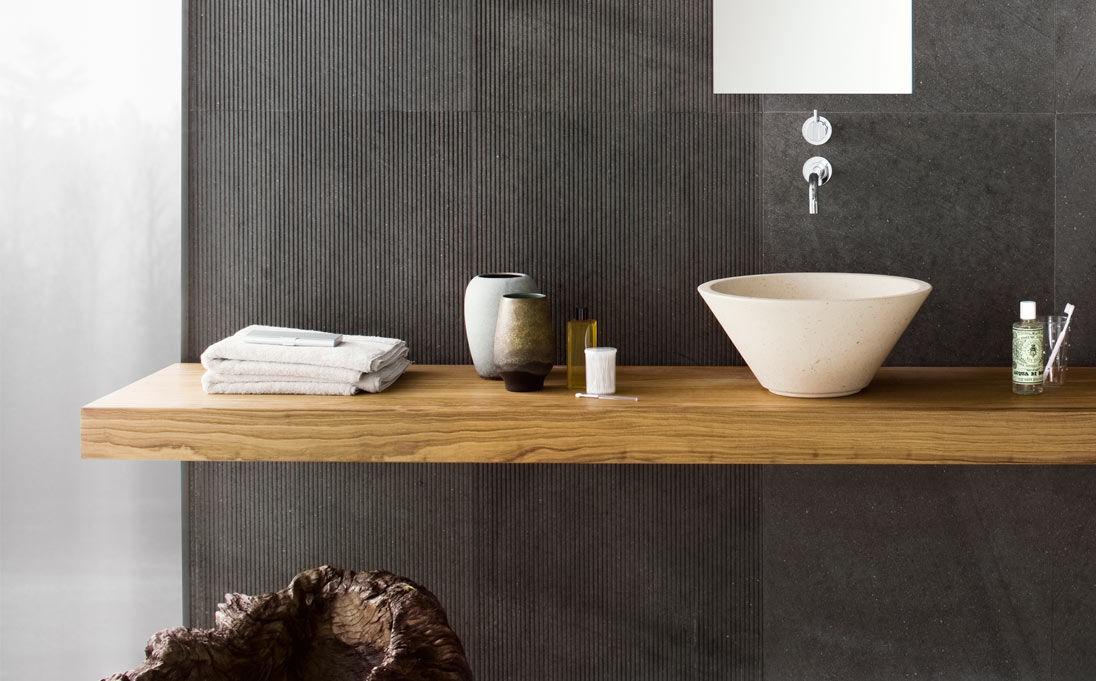 Solid Wood Vanity Top Mood Series Neutra By Arnaboldi Angelo S R L