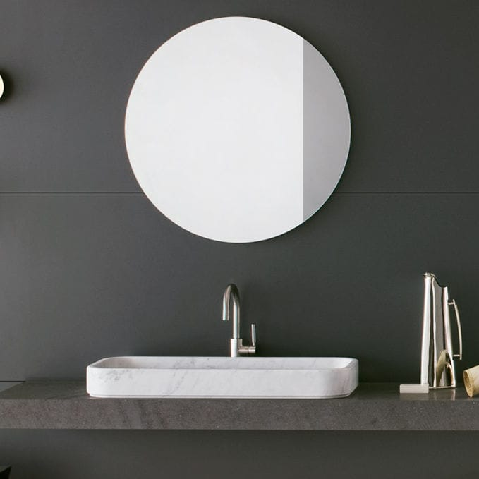 Wall Mounted Bathroom Mirror Contemporary Square Round Mirrors Series By Crs