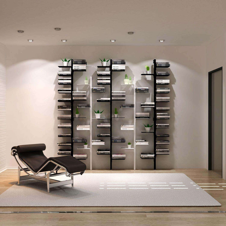 Wall Mounted Shelf Modular Contemporary Aluminum