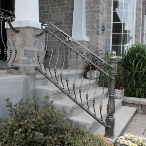 Wrought Iron Railing With Bars Outdoor For Stairs Belly 5910 By Martin Battig