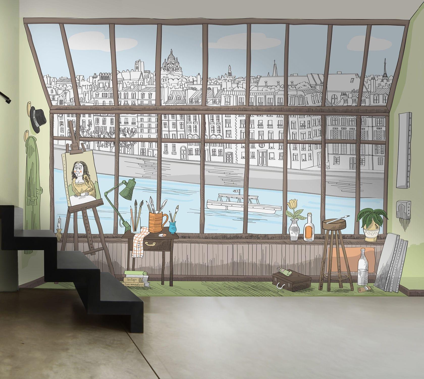 Papier Peint Style Atelier original design wallpaper / sketch / printed - paris atelier