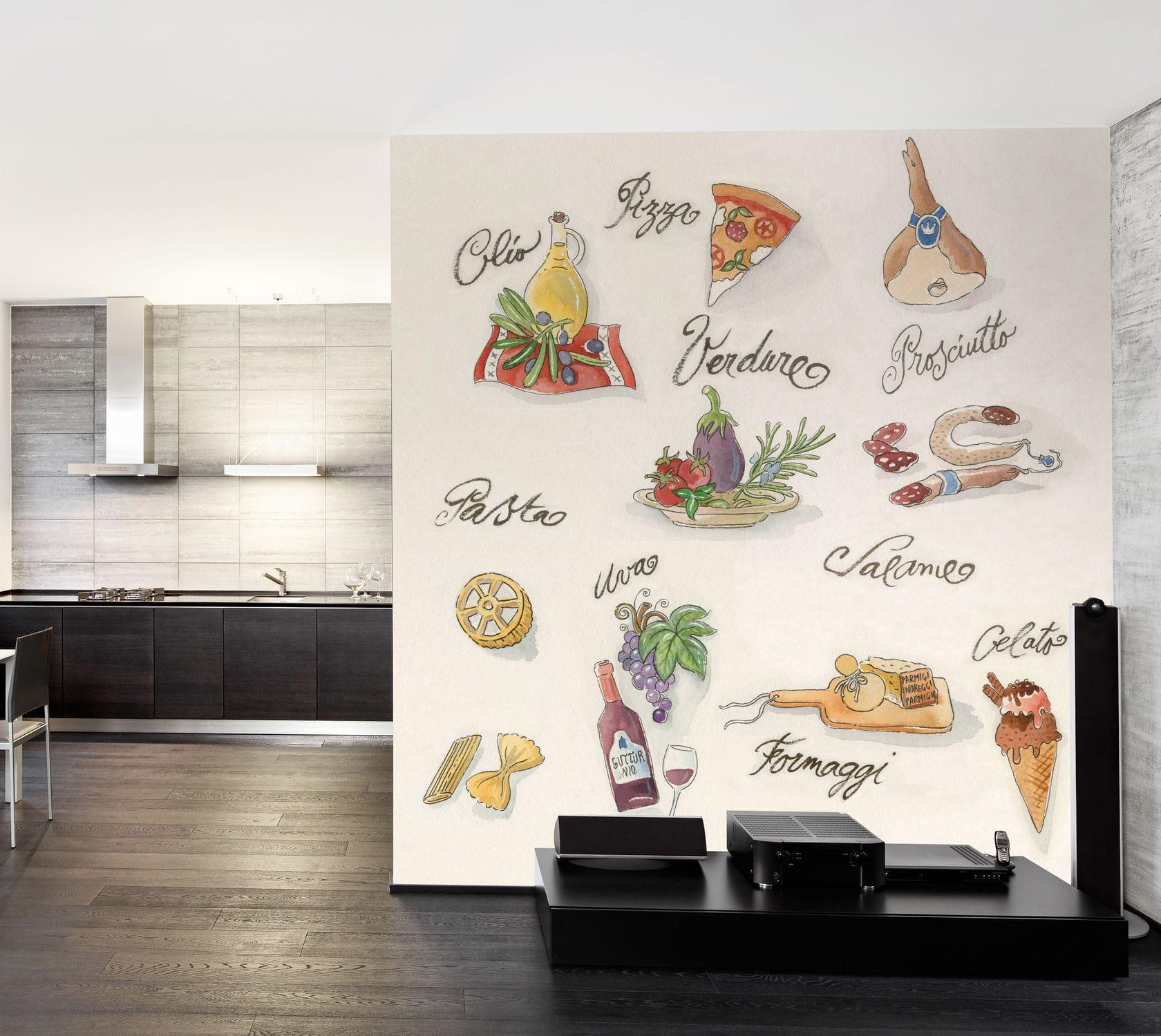 Papier Peint Pour Cuisine original design wallpaper / patterned - bueno appetito - in
