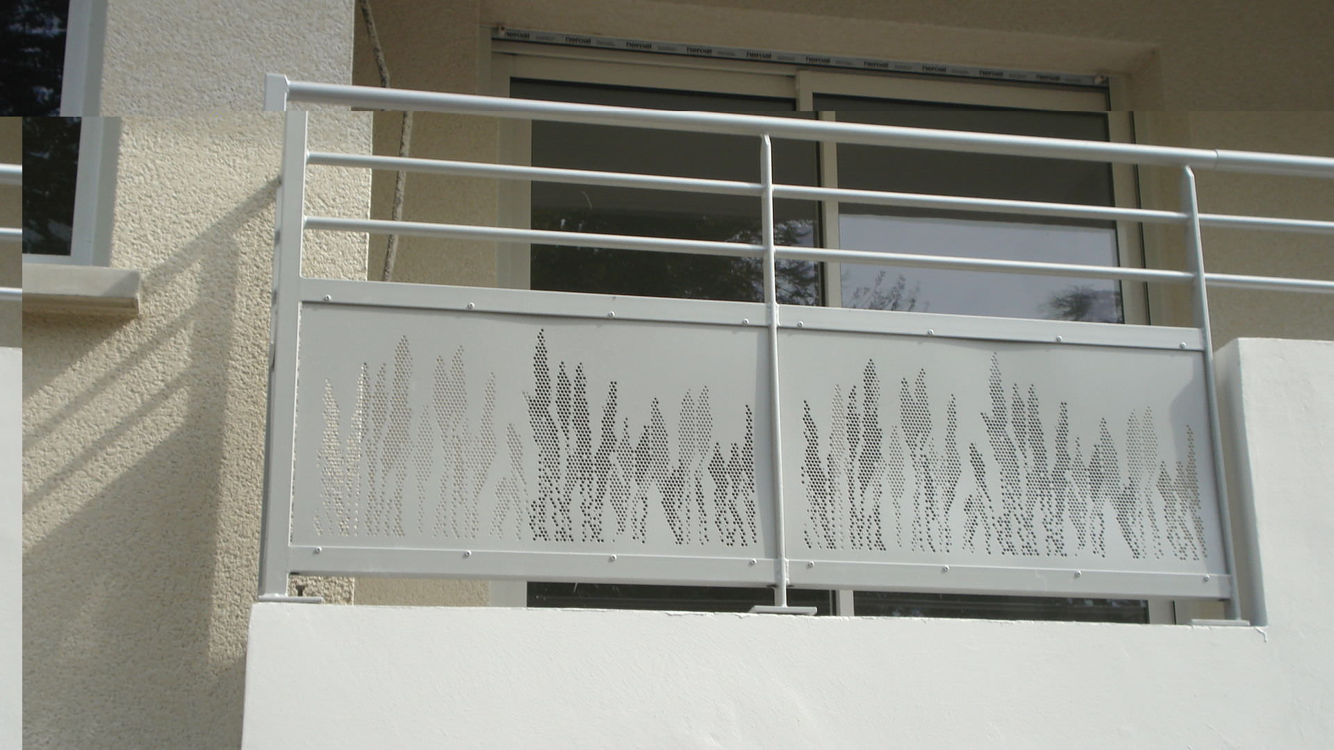 Garde Corps Metal Design metal railing / perforated sheet metal / outdoor / for