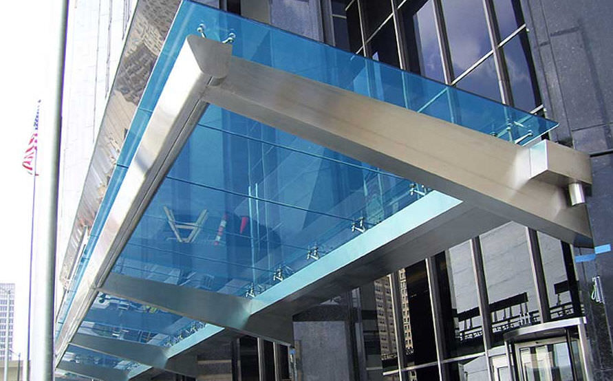 Entrance Canopy Couturier Iron Craft Glass Stainless