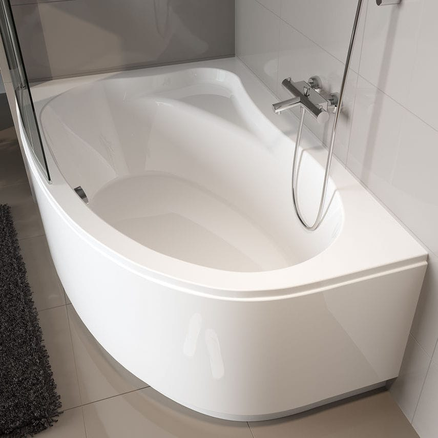 Corner bathtub - LYRA - RIHO - acrylic / whirlpool