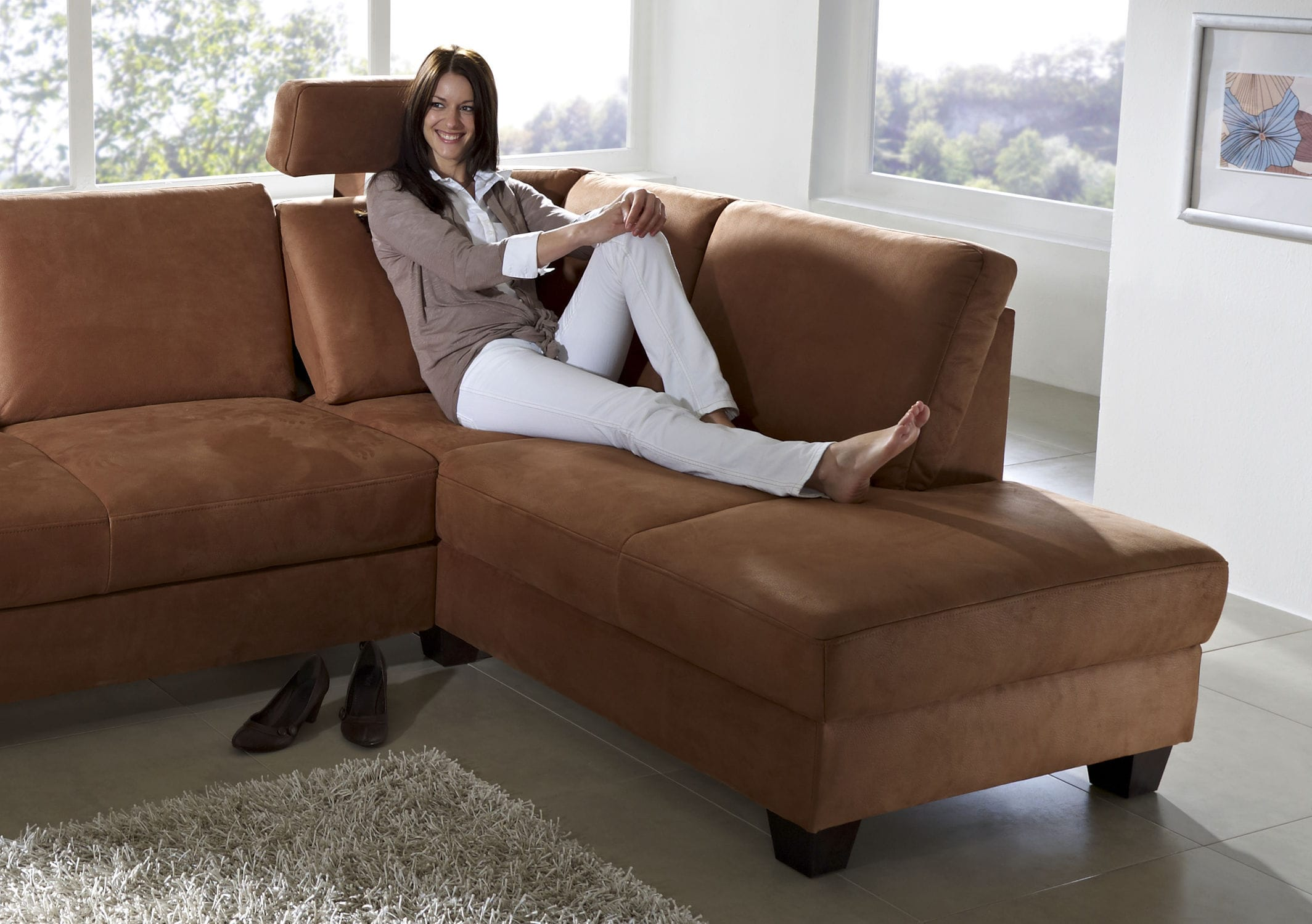 Modular sofa contemporary leather 4 seater CHALET BOZEN