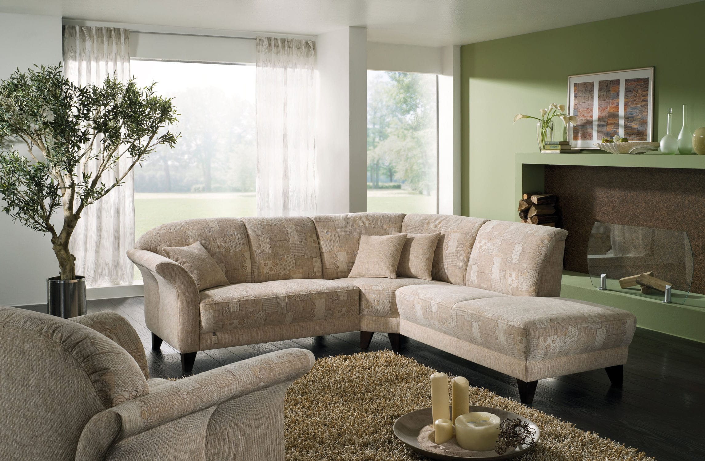 Modular sofa traditional fabric 2 seater CHALET CELANO S