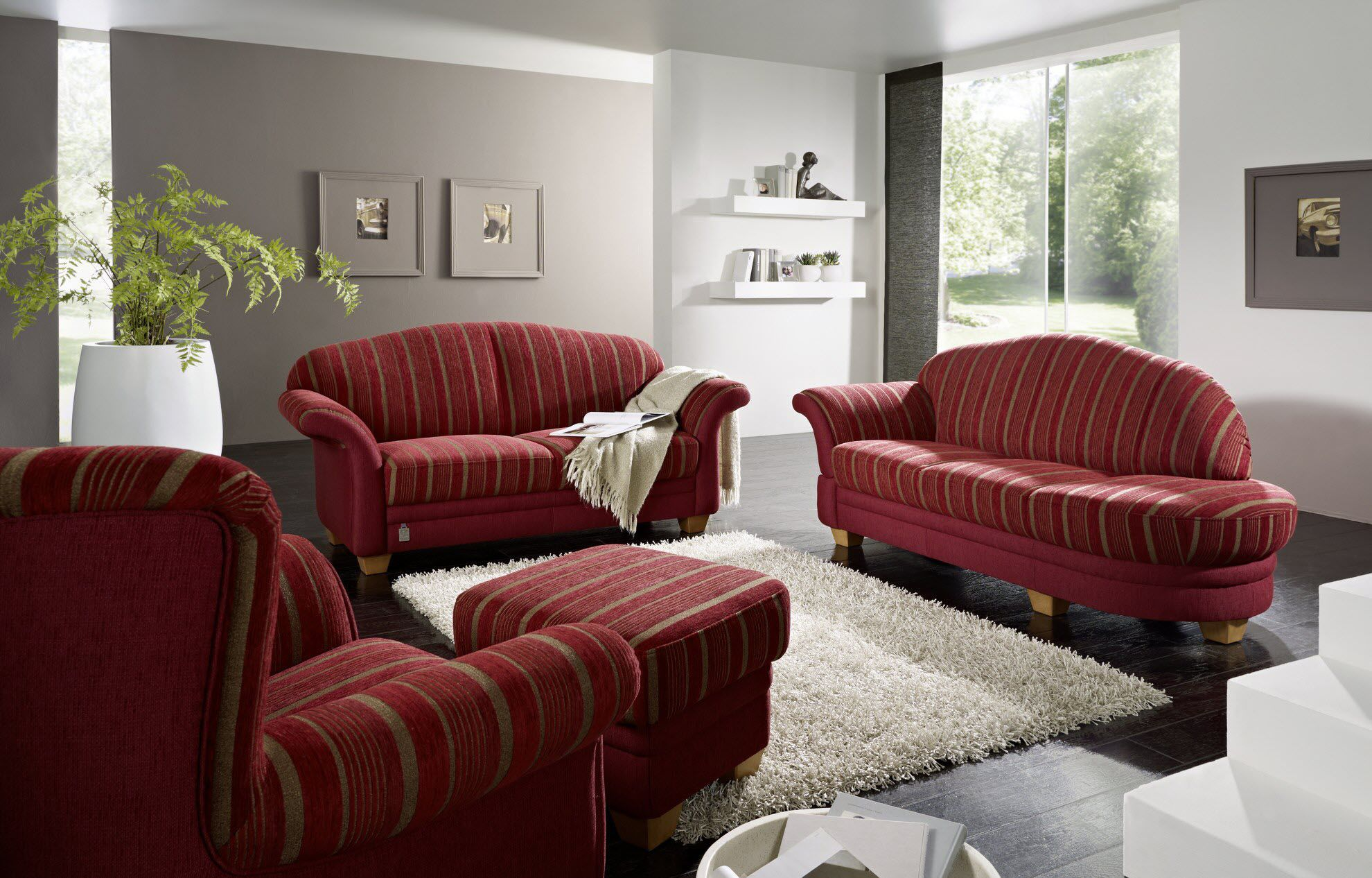 Traditional sofa fabric 2 seater multi color CHALET