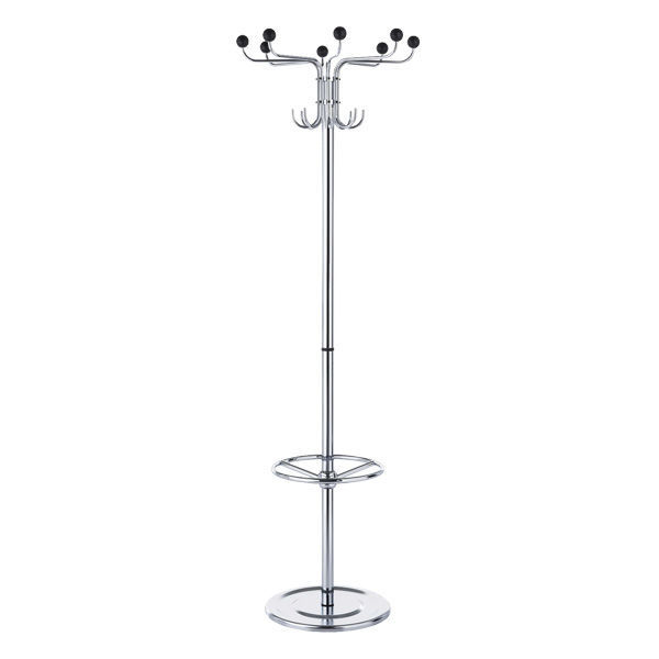 Floor Coat Rack Contemporary Metal With Integrated Umbrella Stand Krone