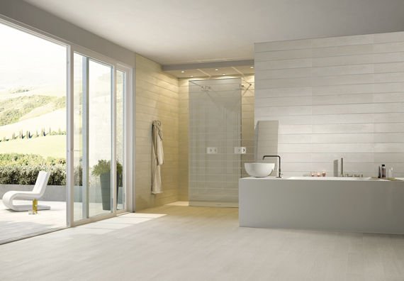 Bathroom Tile Floor Porcelain Stoneware Plain Arbor White