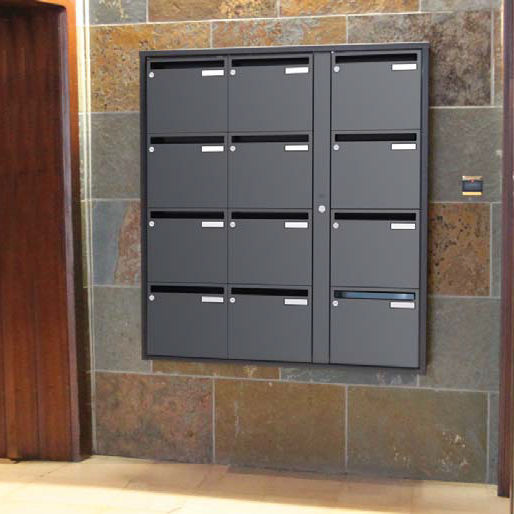 Wall Mounted Mailbox Built In Collective For Parcels Sveltis