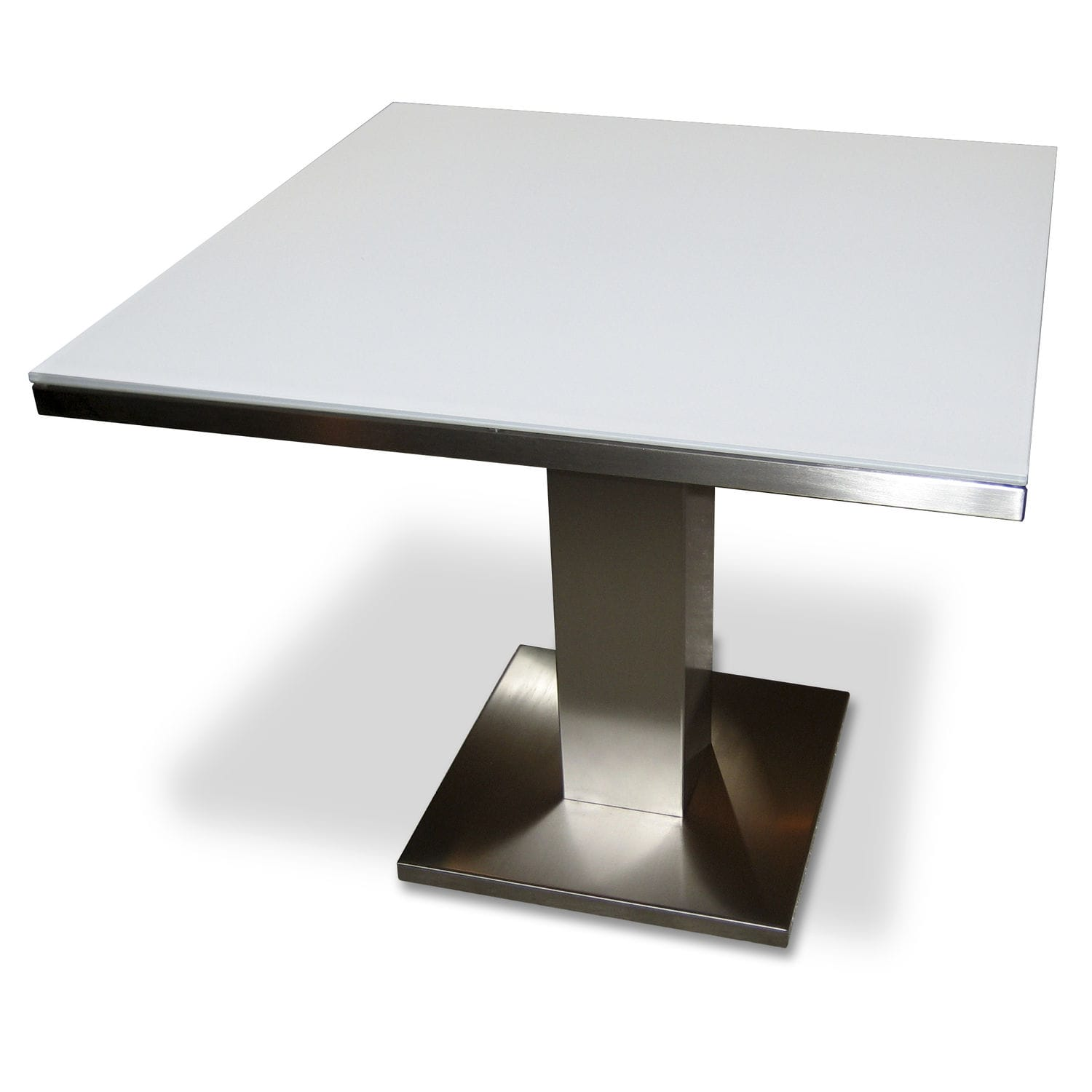Jan Des Bouvrie Sidetable.Contemporary Bistro Table Metal Chromed Metal Teak