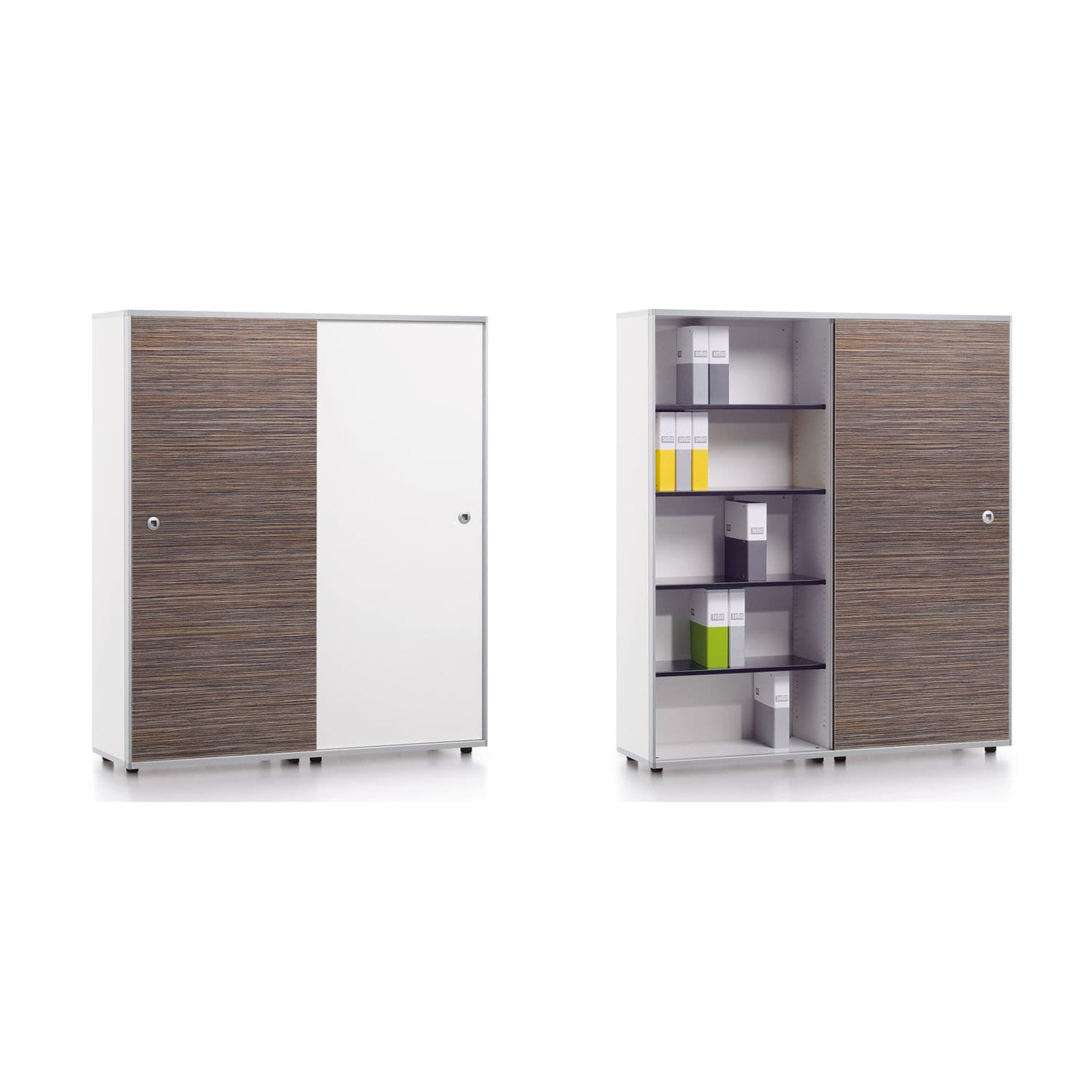Tall Filing Cabinet Wooden With Sliding Door Contemporary Terri Tory By Formwelt Industriedesign