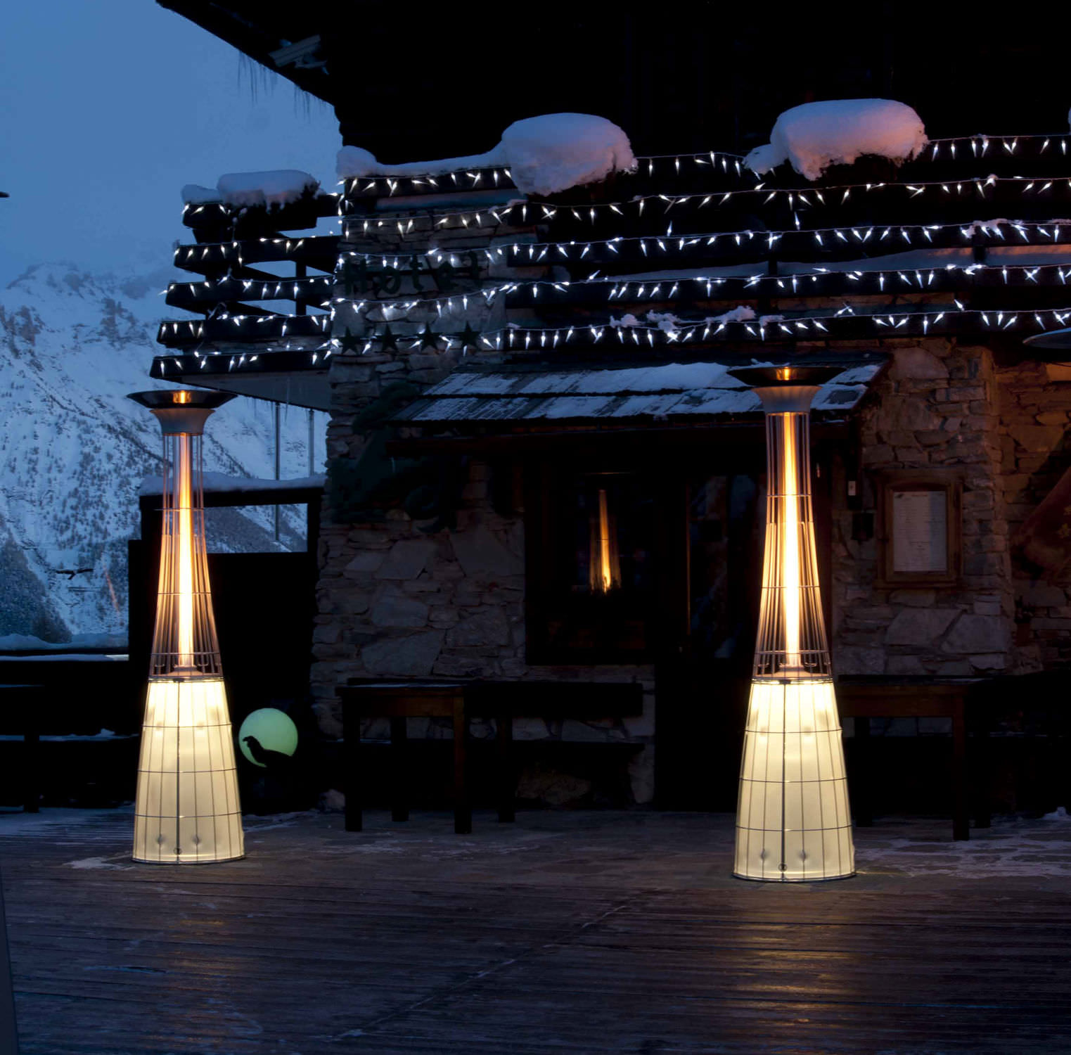 Floor Mounted Infrared Patio Heater Gas