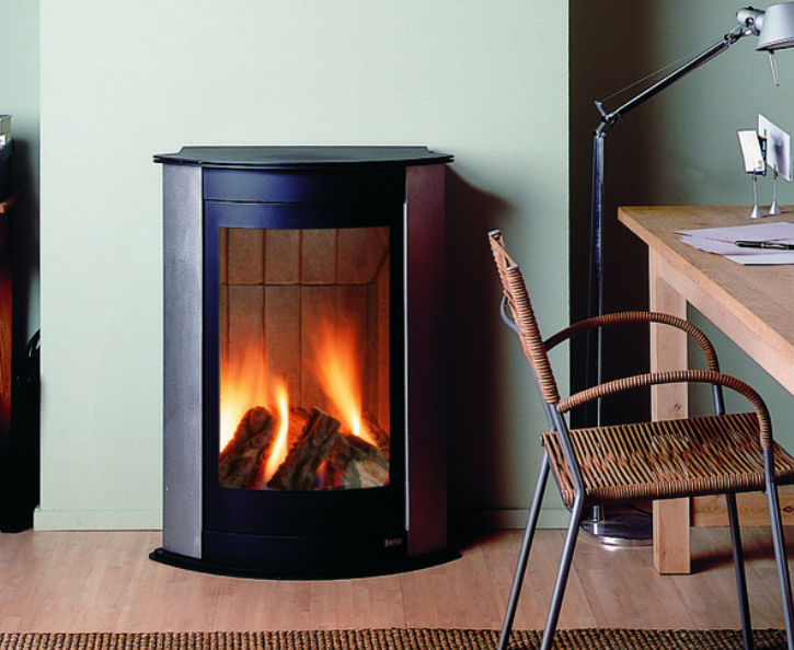 Gas Heating Stove Stainless Steel Contemporary Hi Fire