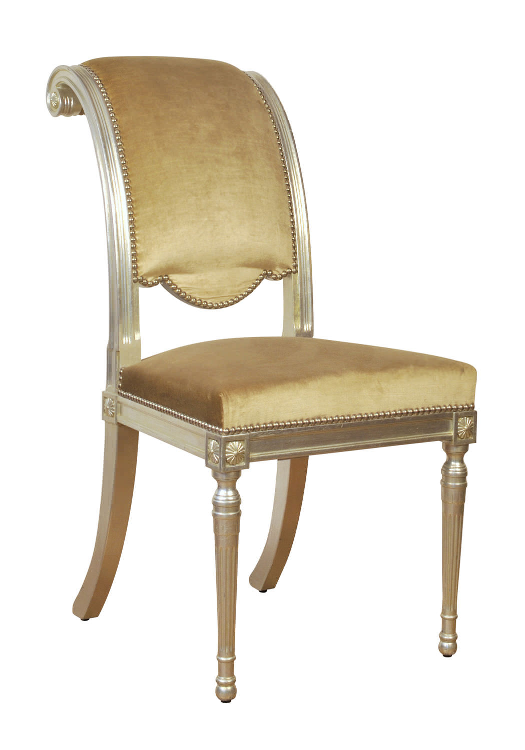 Super Directoire Style Chair Upholstered Wooden Bellanger Pabps2019 Chair Design Images Pabps2019Com