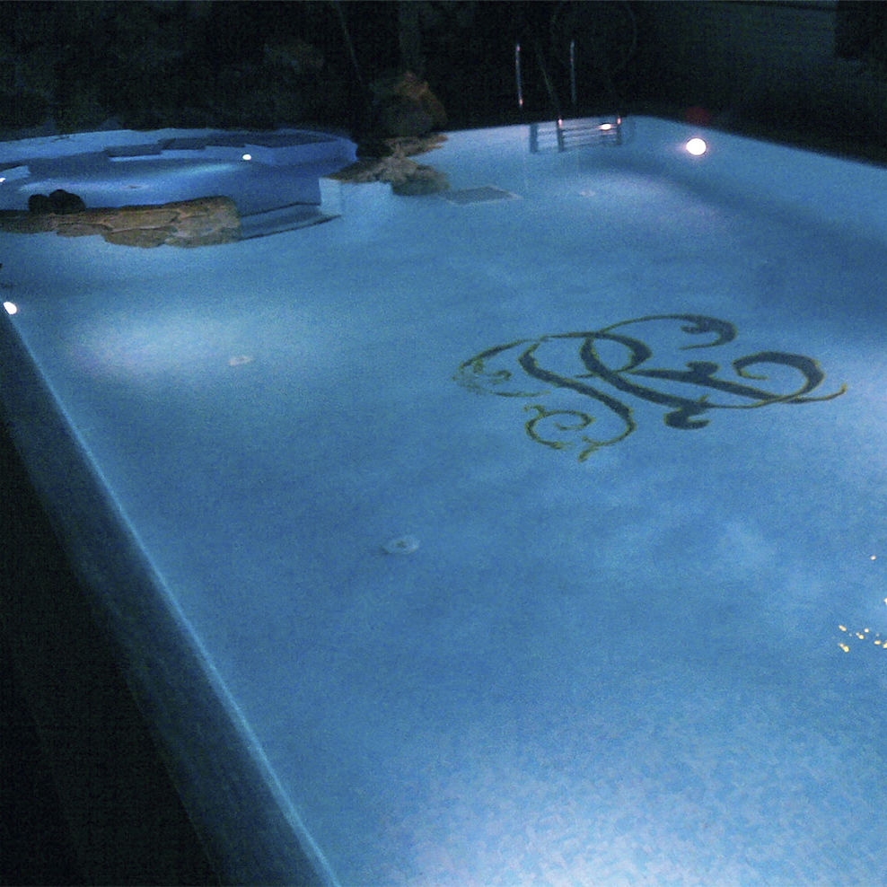 Pool mosaic tile / floor / glass / patterned - CUSTOMIZED ...
