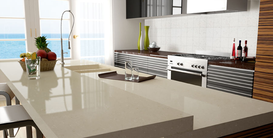 Quartz Composite Countertop Kitchen Botticino