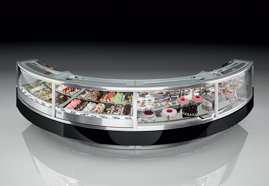 Refrigerated display counter / for pastry shops - CRYSTAL - De Blasi
