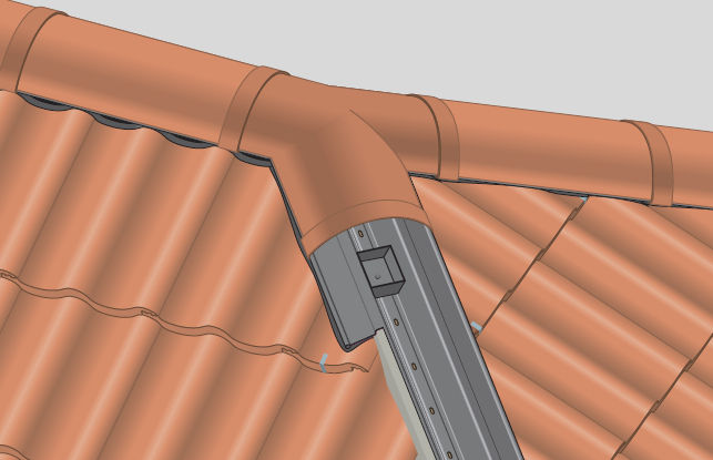 Roman roof tile / clay - HALF ROUND STOP END - Marley Eternit