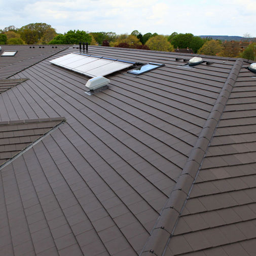 Flat Roof Tile Edgemere Marley Concrete Red Brown
