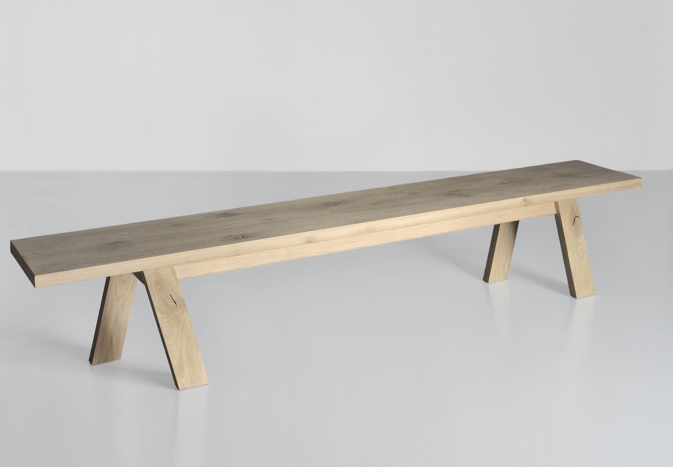 Contemporary Bench Go Vitamin Design Oak Beech Ash
