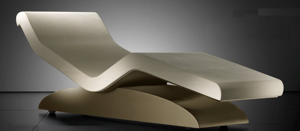 Chaise Longue Design Moderno.Contemporary Chaise Longue Marble For Wellness Center