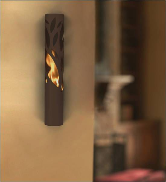 Wall Mounted Garden Torch Twig Sconce By Mitch Harder
