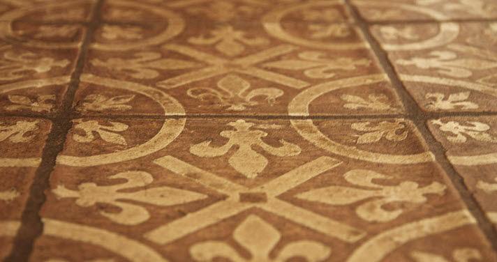 Indoor Tile Floor Terracotta Victorian Pattern Montmartre French Encaustic